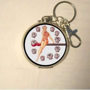 Petty Girl Pin Up Swimsuit w/ Tools Coin, Guitar Pick or Pill Box