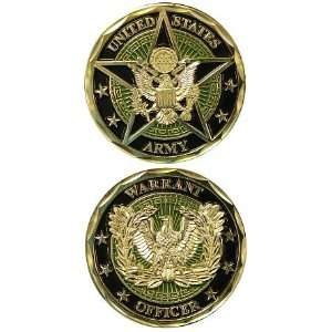 US Armed Forces Army Warrant Officer Eagle Star & Crest   Good