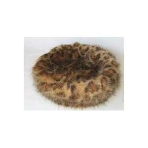 Fish Golden Leopard Print Cuddle Nest Pet Puppy Dog Cat Soft Bed NEW