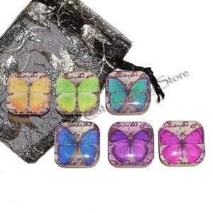 The Black Cat Jewellery Store Vintage Butterflies Glass
