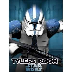 Star Wars Clone Trooper Personalized Poster Wall Print