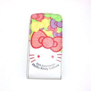 hello kitty white smile flip leather case for iphone 4 4G