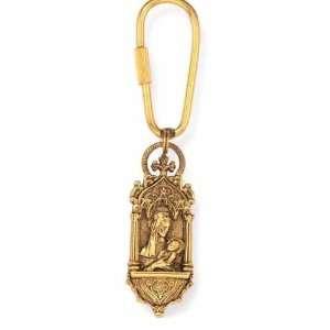 Renaissance Inspired Madonna Child Key Ring Jewelry