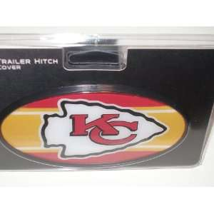 Kansas City Chiefs Plastic Trailer Hitch Cover Sports