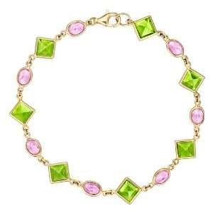 Paolo Costagli Florentine Peridot & Pink Sapphire Link