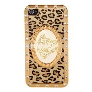 Leopard Skin Design Soft Case for iPhone 4 Cell Phones