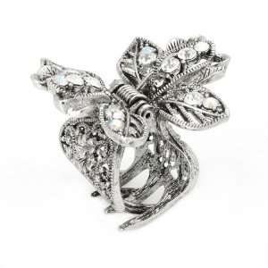 Perfect Gift   High Quality Flower Hair Clip in Silver