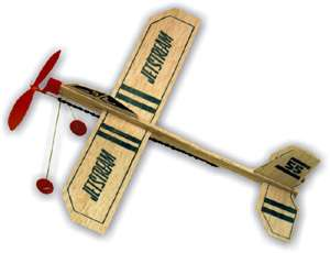 GUILLOWS BALSA WOOD AIRPLANE 10 JET STREAM GLIDERS NEW!!!