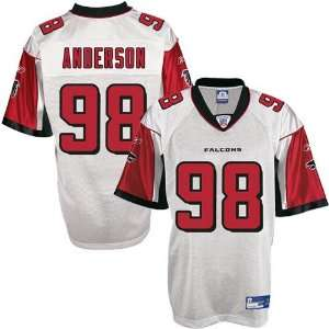 Reebok NFL Equipment Atlanta Falcons #98 Jamaal Anderson White Replica