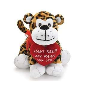 Leo the Leopard Cant Keep My Paws Off You Valentine Toys & Games