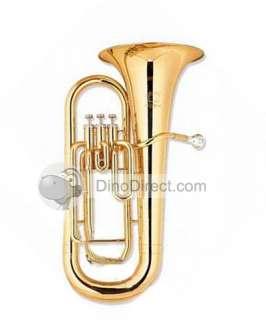 Jin Yin JYEU E100G Bb 3 Valve Baritone Tuba Music Instrument