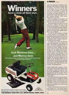 1973~JACK NICKLAUS~MURRAY RIDING MOWERS~Lawn~Print Ad