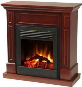 Electric Infrared Wall Fireplace Cherry Cabinet 5000BTU
