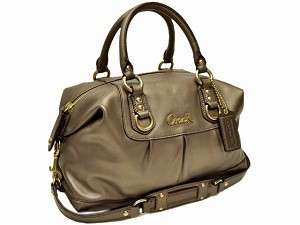 Coach Ashley Steel Leather Satchel Purse Handbag 15445 NWT   $358 MSRP