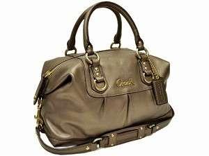 Coach Ashley Steel Leather Satchel Purse Handbag 15445 NWT   $358 MSRP