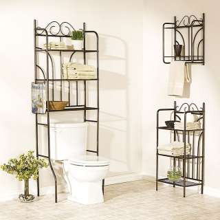 Bathroom Shelf on Bathroom Spacesaver Over Toilet  Shelves  Towel Shelf Collection