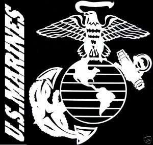 Marine Corps USMC MARINES Eagle Globe and Anchor Decal