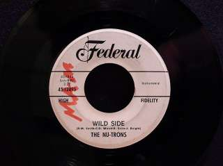 45 SURF ROCKER~ THE NU TRONS Tension b/w Wild Side on FEDERAL DJ