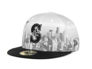 Seattle Mariners New Era 59FIFTY MLB Big City Cap Hats at lids