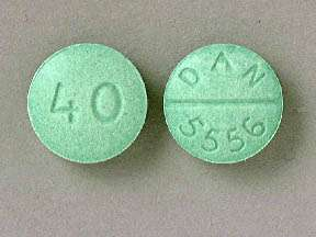 Picture PROPRANOLOL 40MG TABLETS | Drug Information | Pharmacy