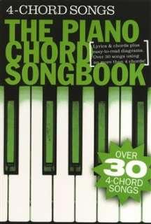 Piano Chord Songbook 4 Chord Songs   Lyrics & Piano Chords
