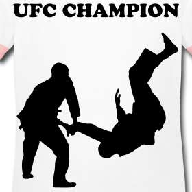 Girls Ringer Tee with UFC logo.  CHANTILLYStores