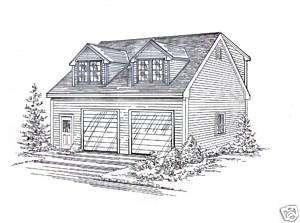 30x40 2 stall fg garage building blueprint plans w loft for 30 x 40 garage plans with loft
