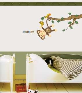 Monkey Decor Mural Art Wall Paper Sticker Decal #HL942