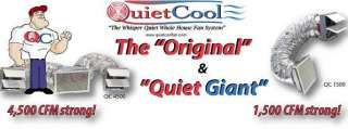 QUIET COOL FANS Garage, Attic, Roof, Whole House Fans, Gable, Energy