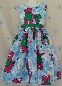 princess_trunk VHTF Barney w/Baby Bop Jumper Dress Custom Sz 12M 10Yrs