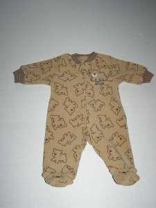 Carter One Piece Sleepers With Feet Baby Boy Infant Newborn EUC