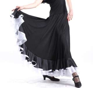 NEW Latin salsa flamenco Ballroom Dance Dress #HB122 skirt