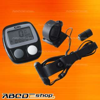 Bike Bicycle LCD Cycle Computer Odometer Speedometer
