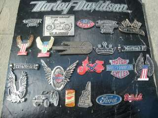 21 vintage harley davidson pin biker motorcycle big lot cast iron 1970