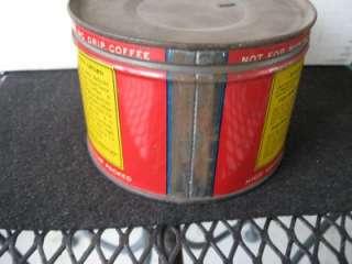 Vintage Beech Nut 1 LB Coffee Tin Key wind