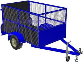 DIY Off Road Camper, Tandem Box & Cage TRAILER PLANS |