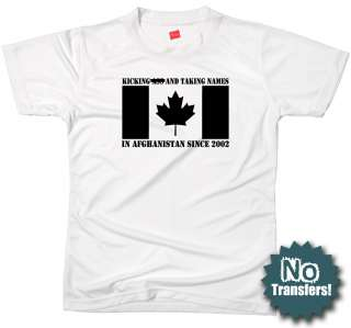 CANADA in AFGH Canadian forces army military T shirt