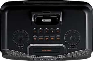RCR 10 Black AM/FM RDS Atomic Clock Radio with iPod Dock: Electronics