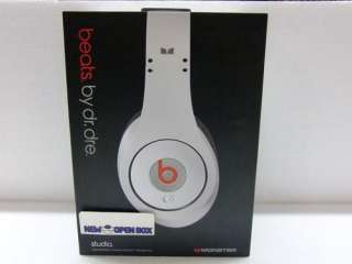Monster Cable Dr. Dre Beats Studio Headphones White 050644560378
