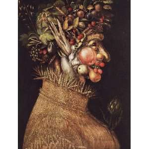Hand Made Oil Reproduction   Giuseppe Arcimboldo   24 x 32