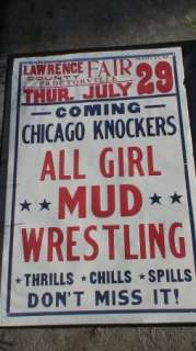 CHICAGO KNOCKERS ALL GIRL MUD WRESTLING   LAWRENCE CO. OHIO
