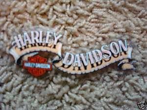 New Harley Davidson Med Tan Banner Window Decal Sticker