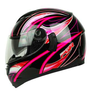 Pink Dual Visor Motorcycle Full Face Helmet DOT APPROVED ~ M