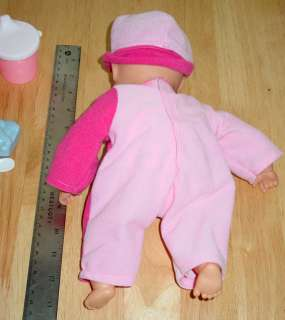 1999 CITITOY Talking Baby Doll Pink 13 including Accessories