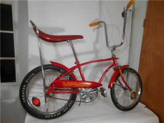 Vint 1970 Huffy RED HOT Muscle Bicycle Bike Cheater Slick Excellent