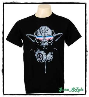 Cool DJ Yoda Trance T shirt Man Hip Hop Graffiti Guy M