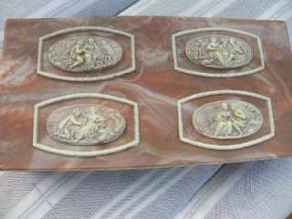 Vintage Incolay Jewelry Box Deer Scene