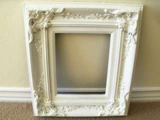 ORNATE WHITE SHABBY STYLE PICTURE FRAME 8 X 10 BEAUTIFUL