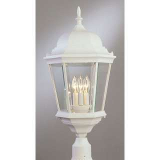 TransGlobe Lighting Three Light Post Lantern in White