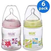 NUK / Gerber   First Choice Nature 5oz Bottle 6 pack, Girl